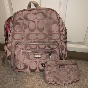 Coach book bag and wristlet bundle